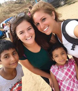 Elida White and Anaisa Nagy accepted a six-week internship in Mexico shortly after graduation.