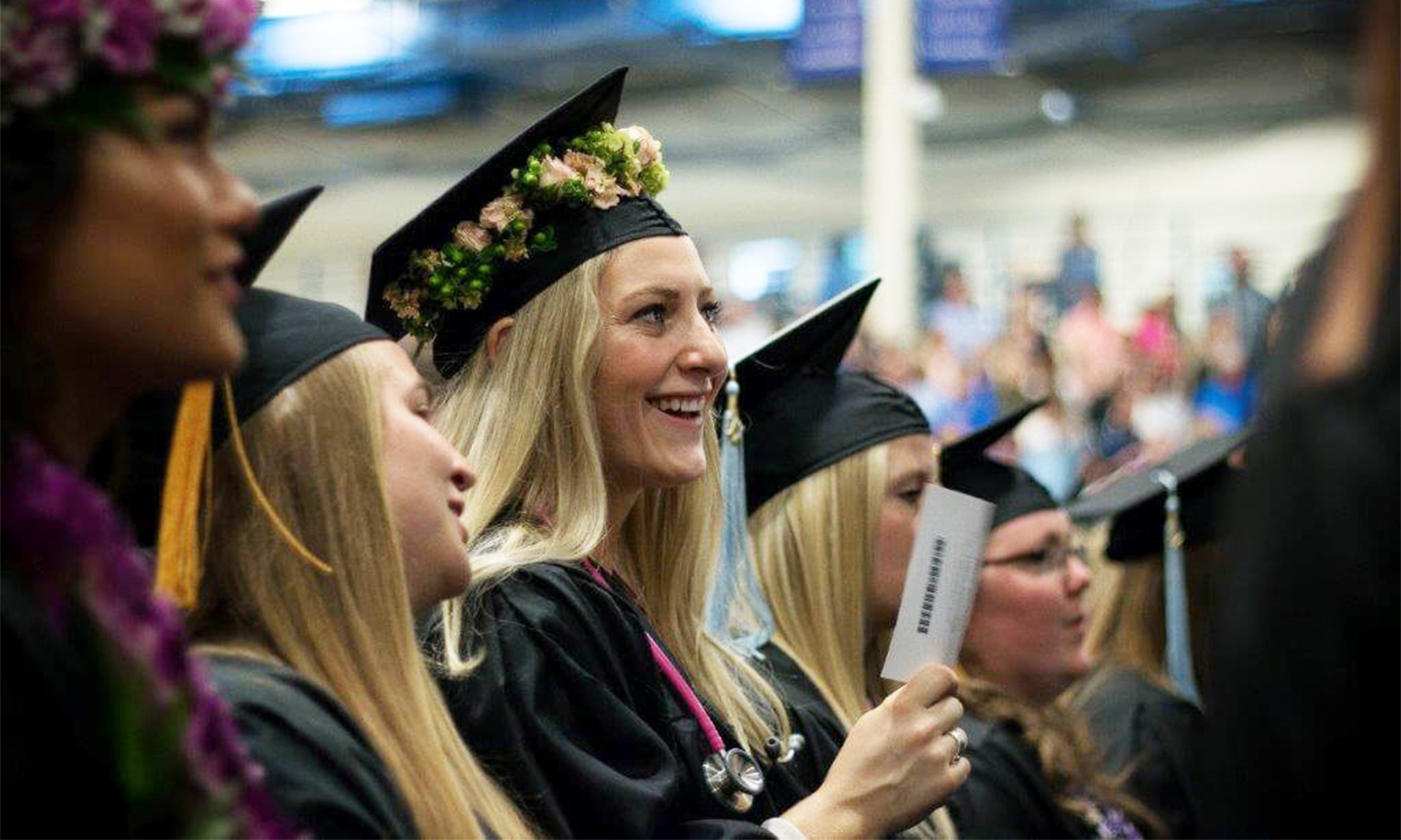 A scene from CUW's 2017 commencement.