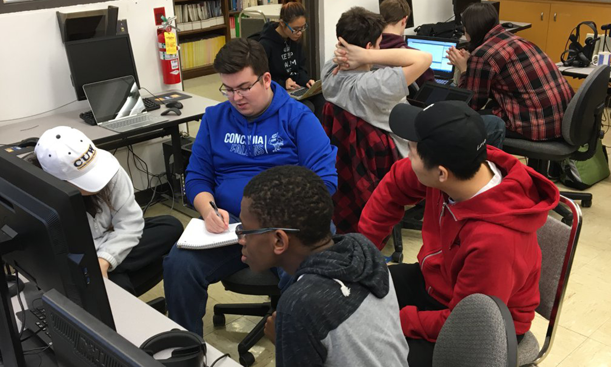 CUW students participate in the 4th annual hackathon.