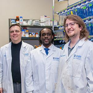 Dr. Michael Pickart, Kwadwo Owusu-Ofori, and Dr. Christopher Cunningham