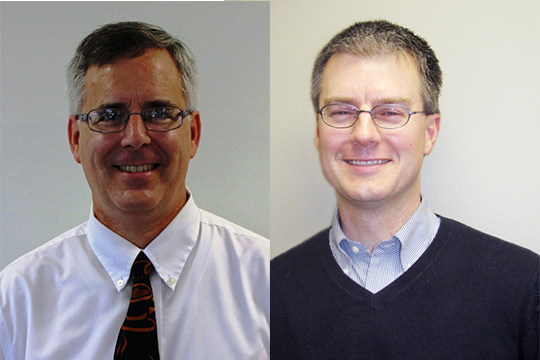 [Left] Dr. Jeff Walz and [Right] Dr. James Burkee