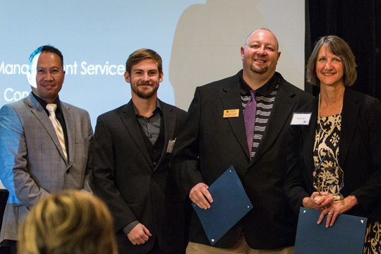 MedSync-Rx, made up of faculty and a student from Concordia University Wisconsin, was one of the winning teams during Friday's Healthcare Innovation Pitch event.