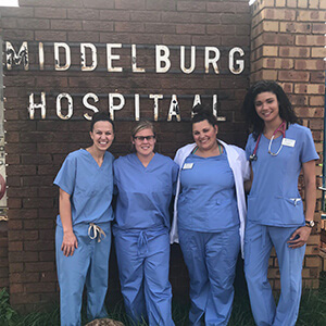 CUW physician assistant students did a rotation in South Africa