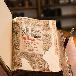 One of Concordia's rare books
