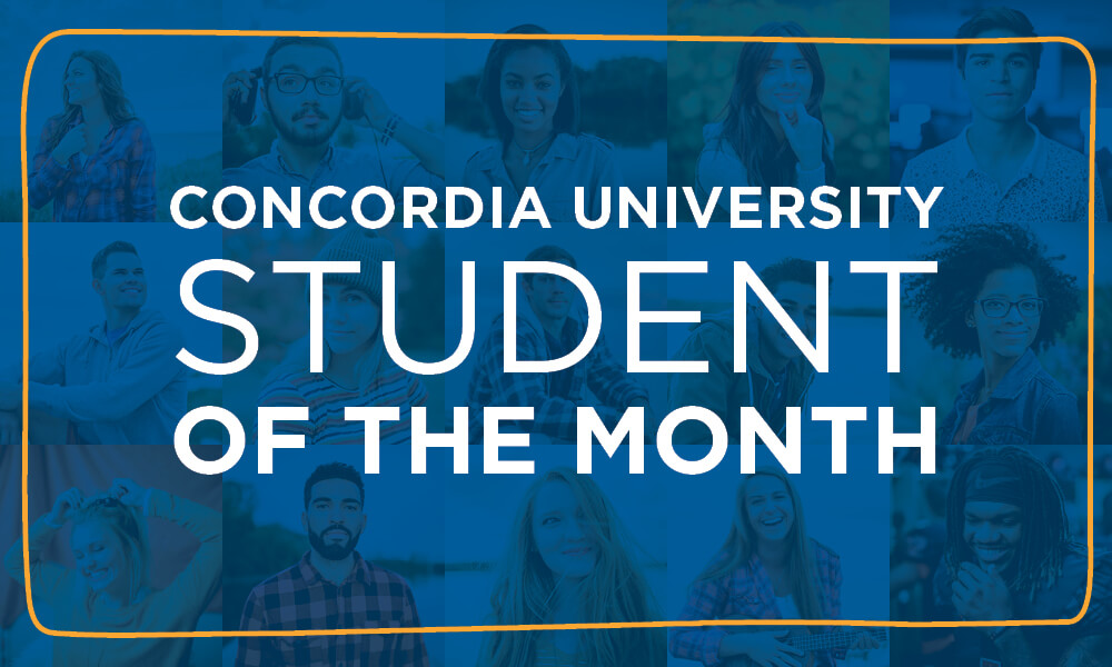 Concordia student of the month