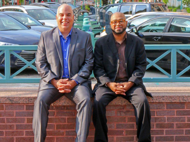 Concordia's Dean of Students Dr. Steve Gerner (L) and Assistant Professor of Education Eugene Pitchford