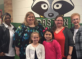 Tiffany Koenitzer (back row, second from left) was named Gaston Elementary's 2018 Teacher of the Year.
