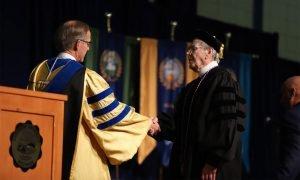 Walt Raebel, age 90, earns his degree