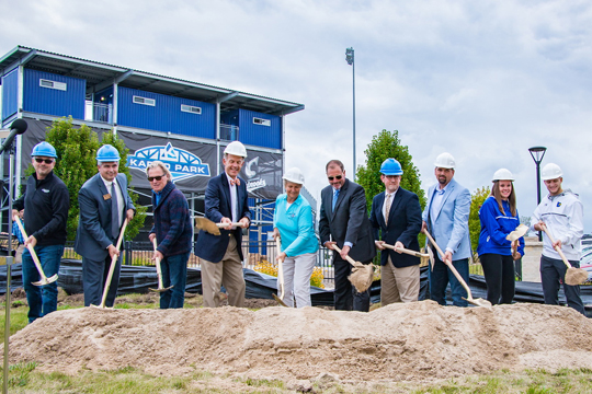A groundbreaking ceremony for Concordia's new indoor training facility was held Sept. 6.