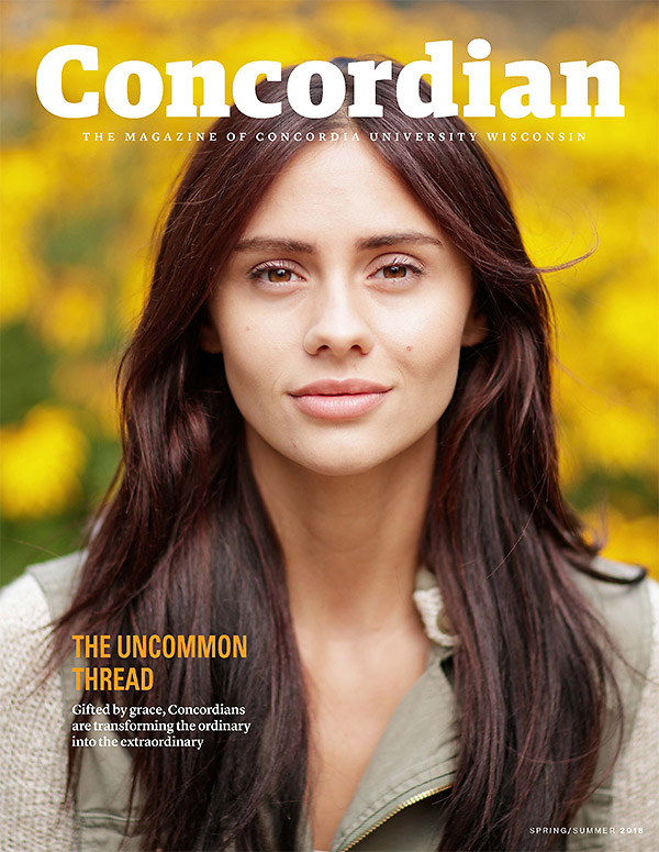Concordian magazine cover Spring 2018