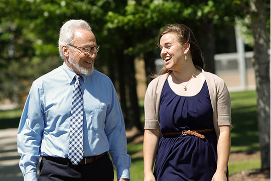 Rev. Dr. Timothy Maschke with Concordia student Rachel Gierach.