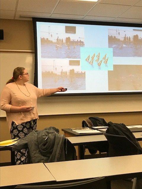 Concordia student presenting speech