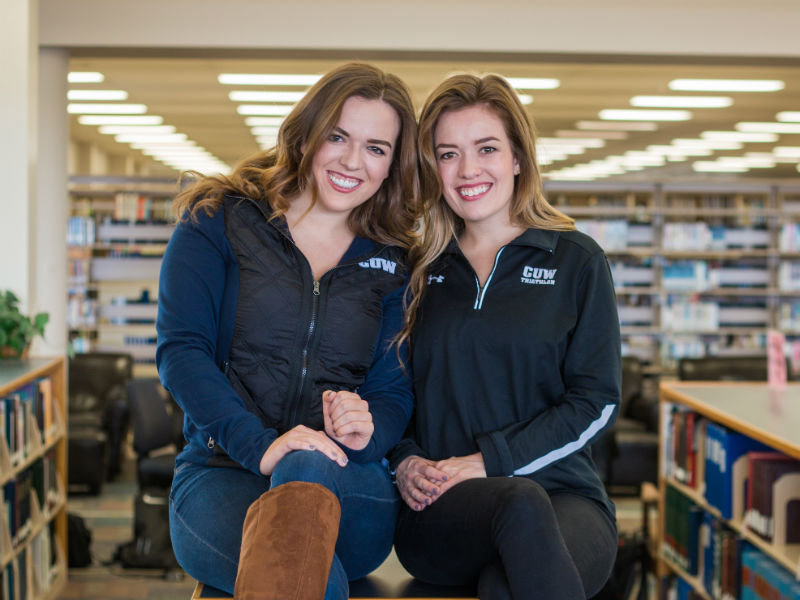 Annie (left) and Mary Karsten are Business Scholars at Concordia University Wisconsin. They will earn their undergraduate and MBA in four years.