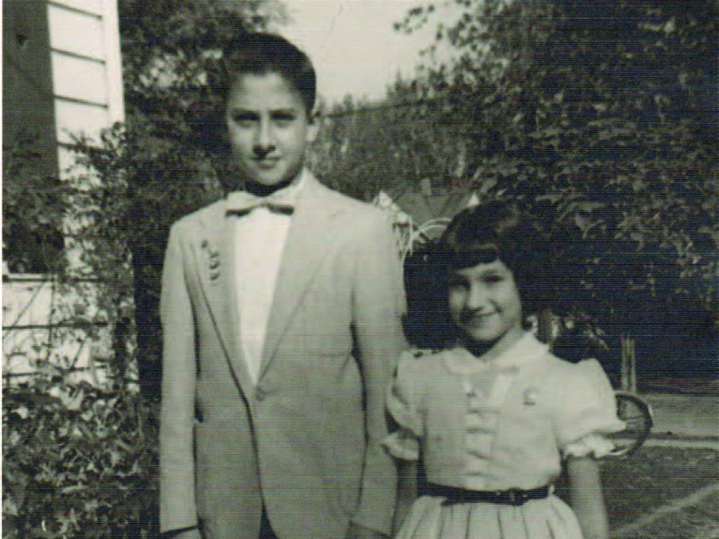 Chuck (left) and Maria Ridulph proudly wear their perfect Sunday school attendance pins in this picture taken in 1957, the year Maria was kidnapped.